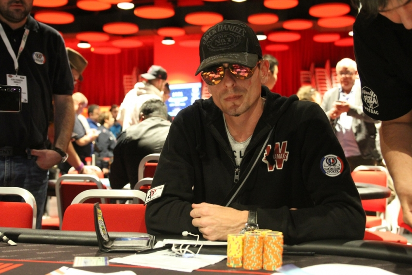 Gregory Chenut (Poitiers Poker Club) est ChipLeader en fin de Day1A